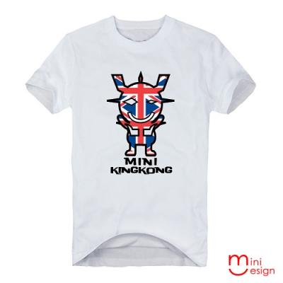 英倫MINI KING KONG潮流設計短T 三色-Minidesign
