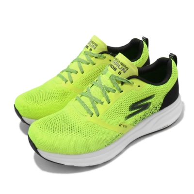 Skechers 慢跑鞋 Go Run Ride 8 男鞋 路跑 緩震 透氣 輕量 球鞋穿搭 綠 黑 55224YLBK