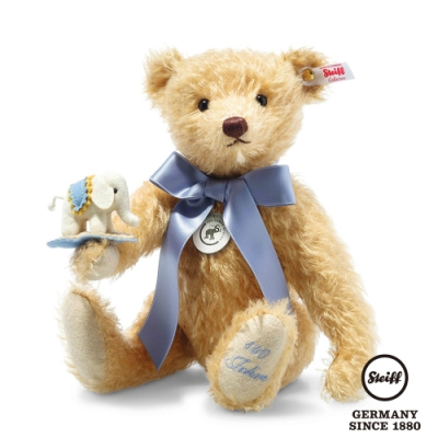 STEIFF德國金耳釦泰迪熊  Teddy bear with little felt elephant  泰迪熊與小象 (限量版)