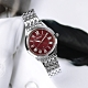 SEIKO 精工 LUKIA 太陽能 鑽石 日期 防水100米 不鏽鋼手錶-紅色/34mm product thumbnail 1