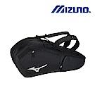 MIZUNO 美津濃 羽網球雙肩背袋 6支裝 黑 63JD850209