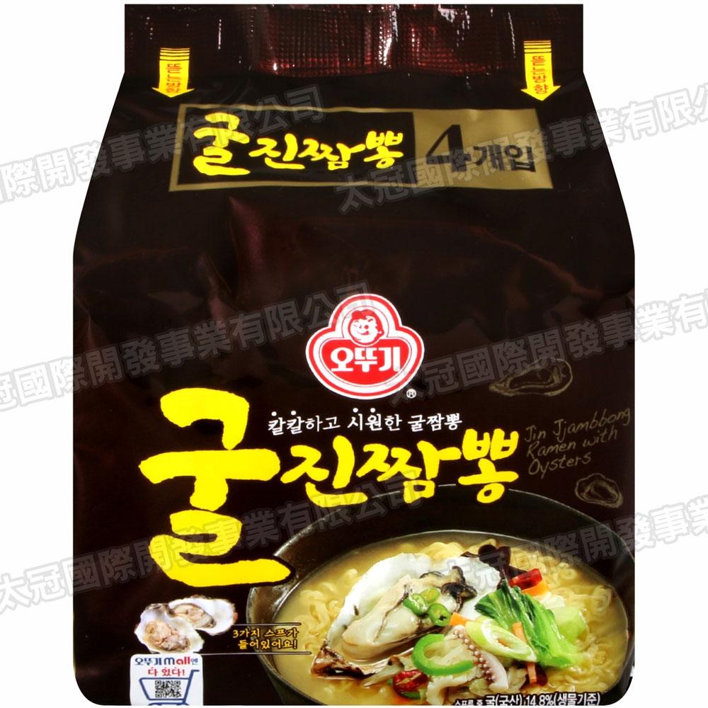 不倒翁 真牡蠣風味拉麵[四袋入](520g)
