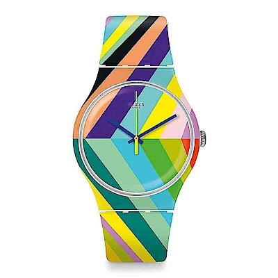 Swatch THINK FUN系列 PSYCADELIC 迷幻色彩手錶