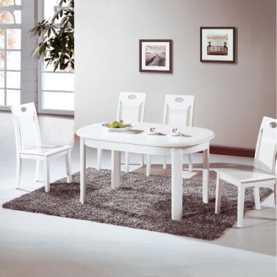 MUNA 羅莎琳4.6尺白色實木餐桌(不含椅) 140X85X76cm