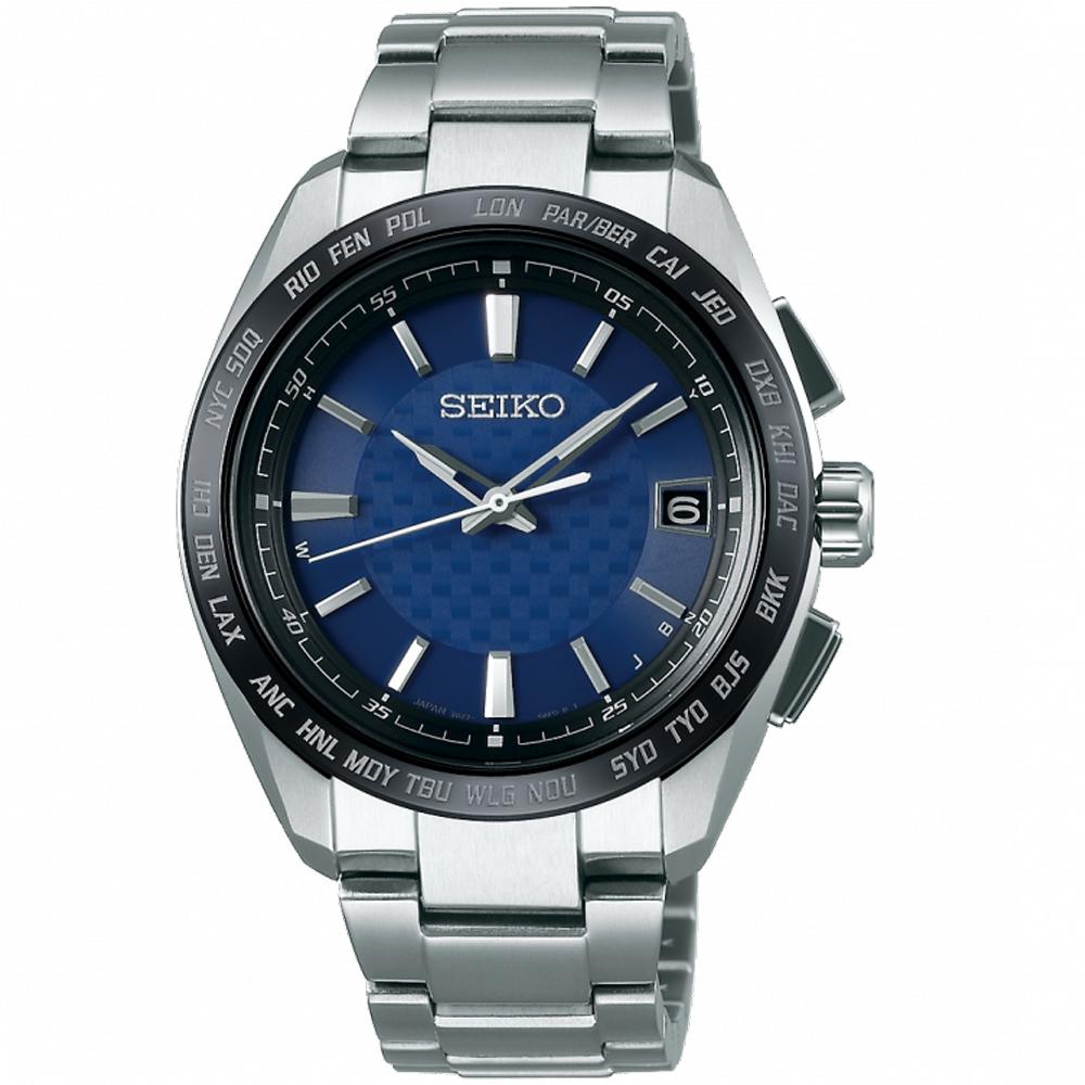 SEIKO BRIGHTZ 鈦金屬太陽能電波腕錶(SAGZ089J)藍/40mm