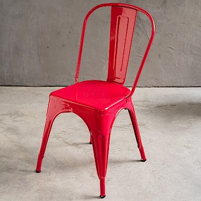 日居良品-4入組-LOFT-英式工業風高背鐵椅-餐