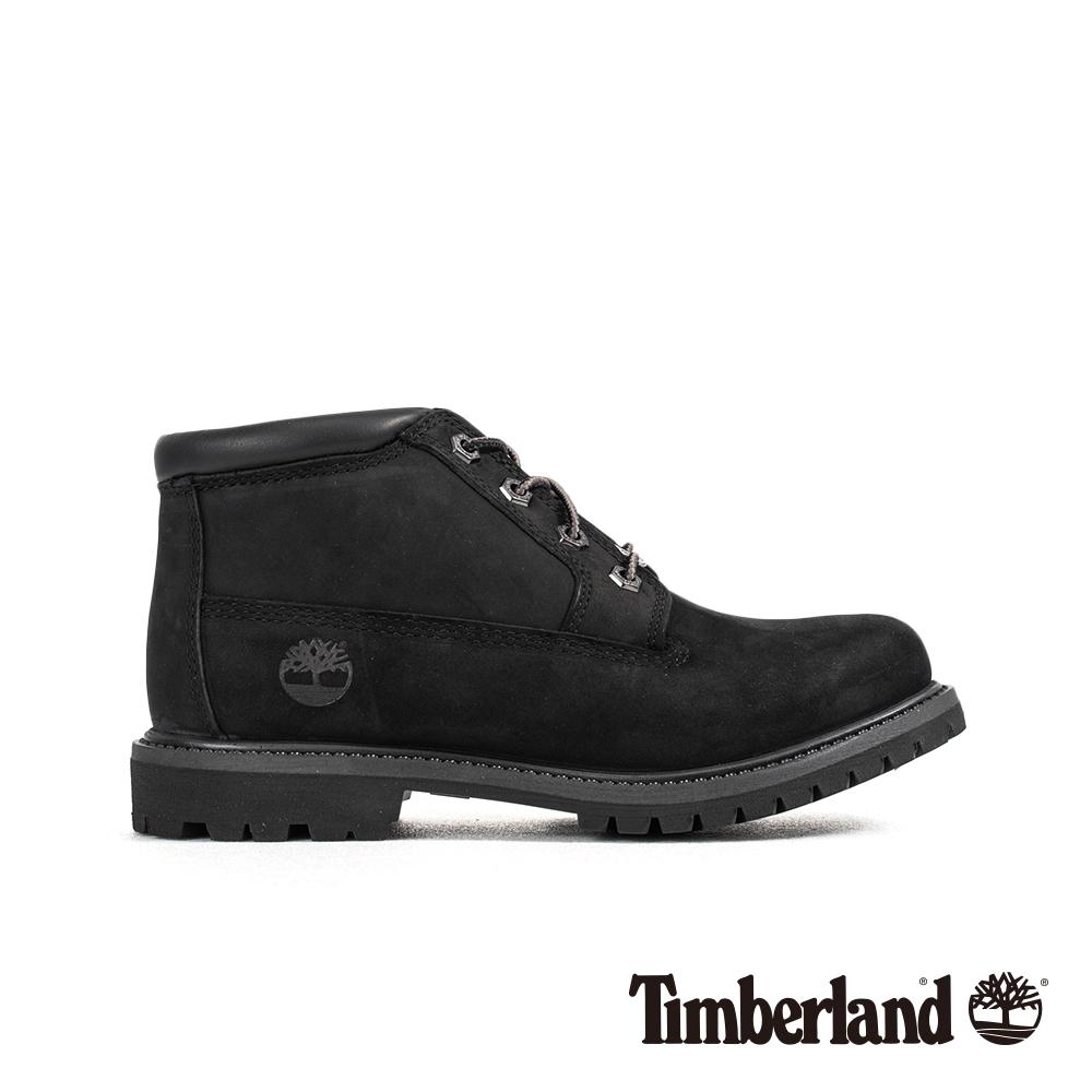Timberland 女款黑色磨砂革防水低筒靴|23398