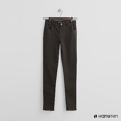 Hang Ten - 女裝 - 純色修身長褲 - 綠