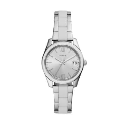 FOSSIL美式風格設計腕錶/32mm銀色ES4590