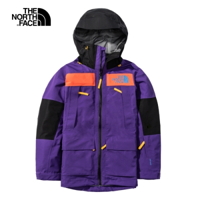 The North Face北面女款紫色防水透氣連帽衝鋒衣|4R1FU74