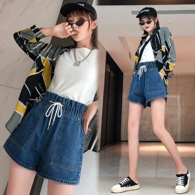 【韓國K.W.】(預購)好穿好修身牛仔短褲裙-1色