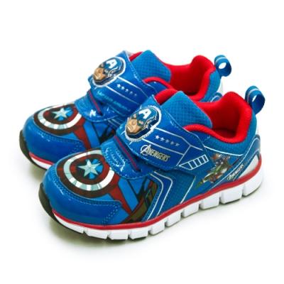 Marvel 漫威 復仇者聯盟 輕量兒童電燈慢跑鞋 藍紅 85126