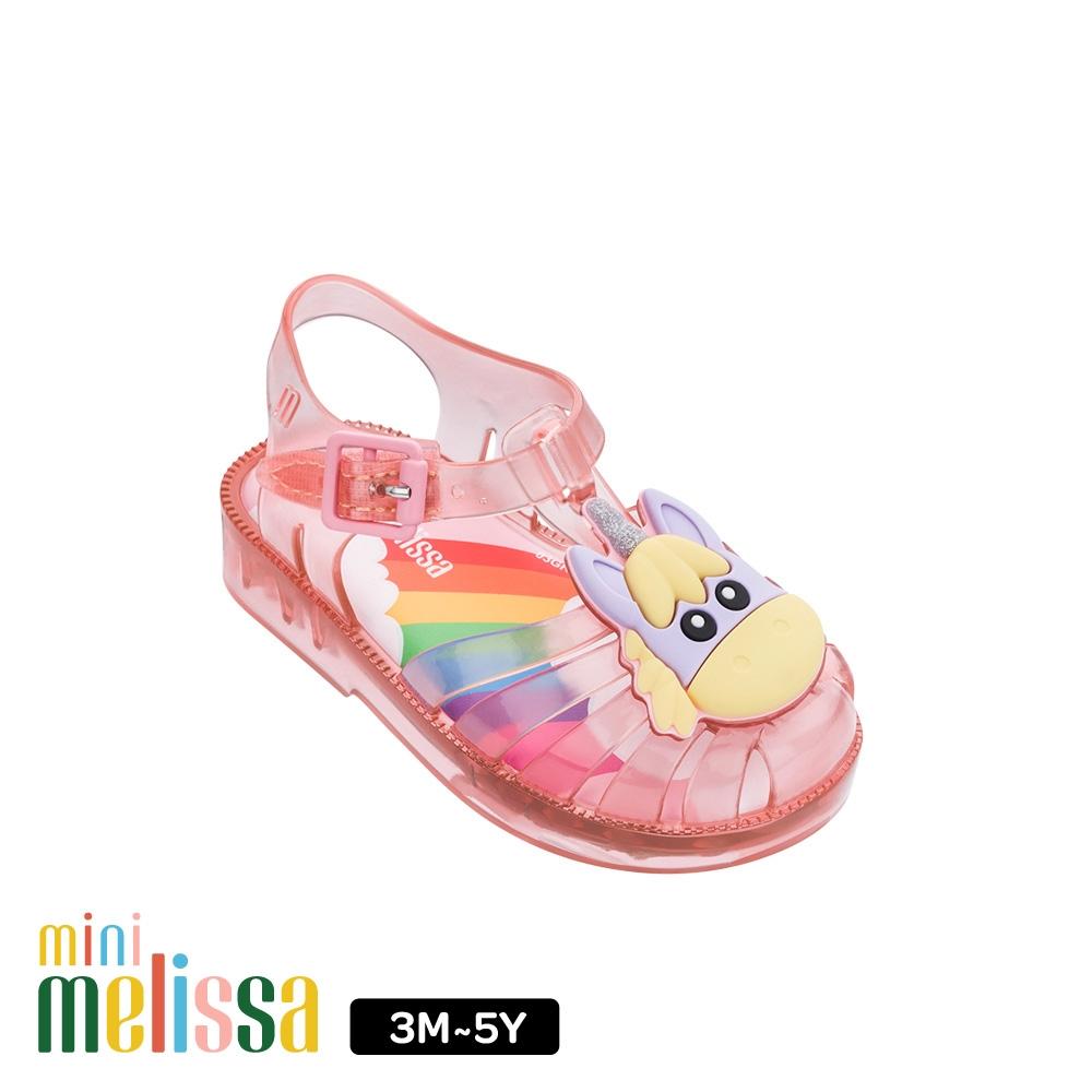 Melissa獨角獸造型漁夫鞋寶寶款 果凍粉