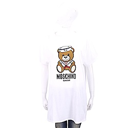 MOSCHINO Swim 水手泰迪熊寶寶白色長版棉質T恤