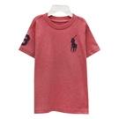 Ralph Lauren 童裝刺繡數字3經典大馬素面短袖t恤-橘紅色(2/2T)