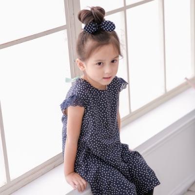 小雛菊 MARGUERITE 點點春日小洋裝-深藍