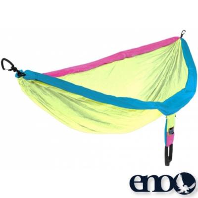 ENO DoubleNest Hammock 高透氣超耐用雙人吊床_黃/藍/桃紅