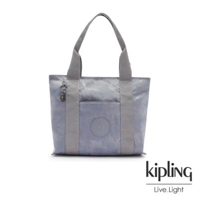 Kipling 光澤霧灰紫迷彩手提包-ERA S