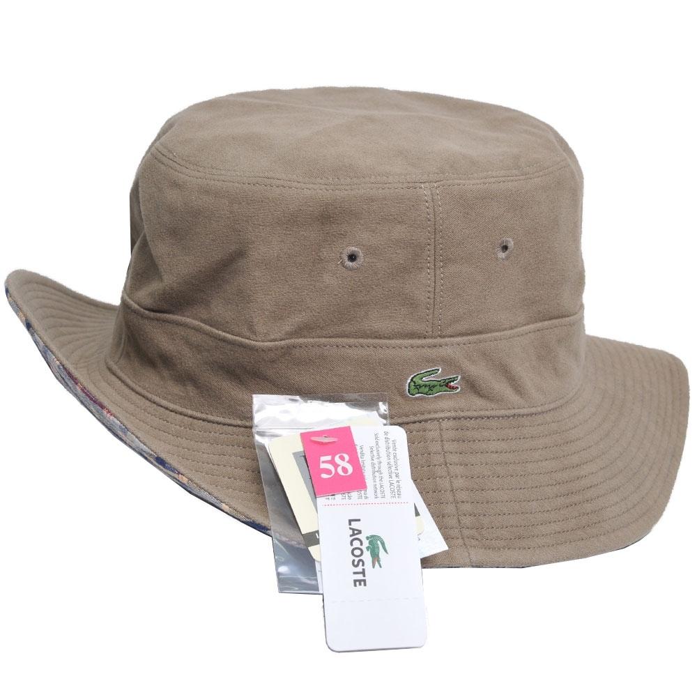 LACOSTE 品牌鱷魚刺繡LOGO圖騰雙面用遮陽帽(黑/咖啡系)