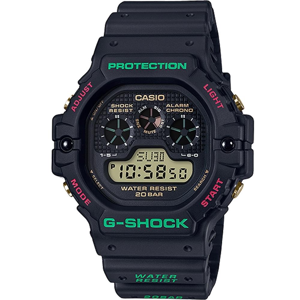 G-SHOCK 紅綠雙色復古運動錶(DW-5900TH-1)