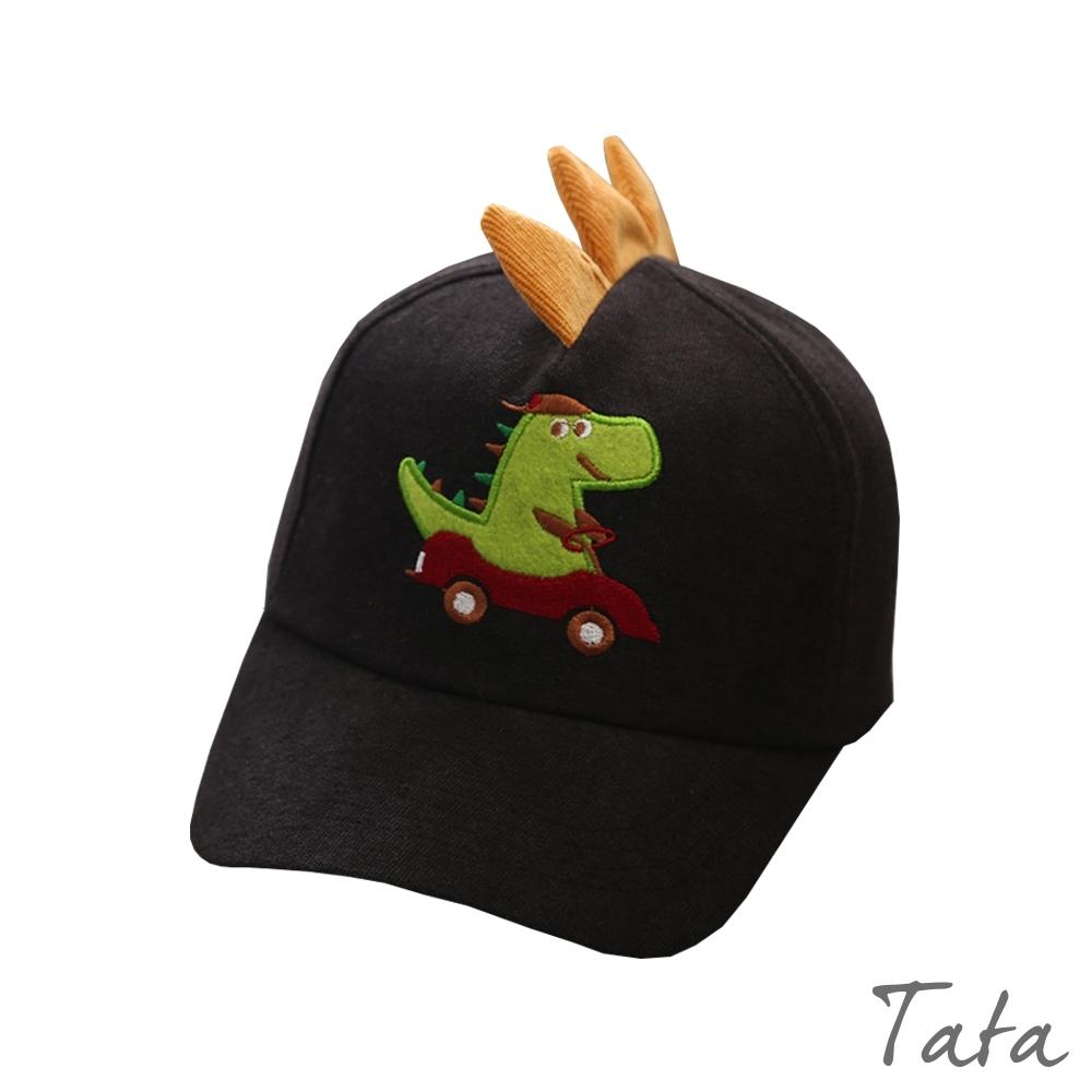 童裝 燈芯絨恐龍開車刺繡造型鴨舌帽 TATA KIDS