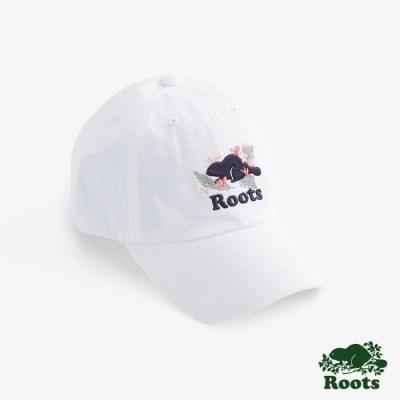 配件Roots-夏威夷海狸棒球帽-白