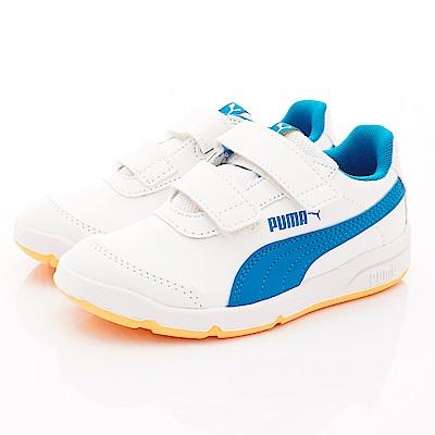 PUMA童鞋 經典雙絆帶休閒款 ON90114-16白藍(中小童段)