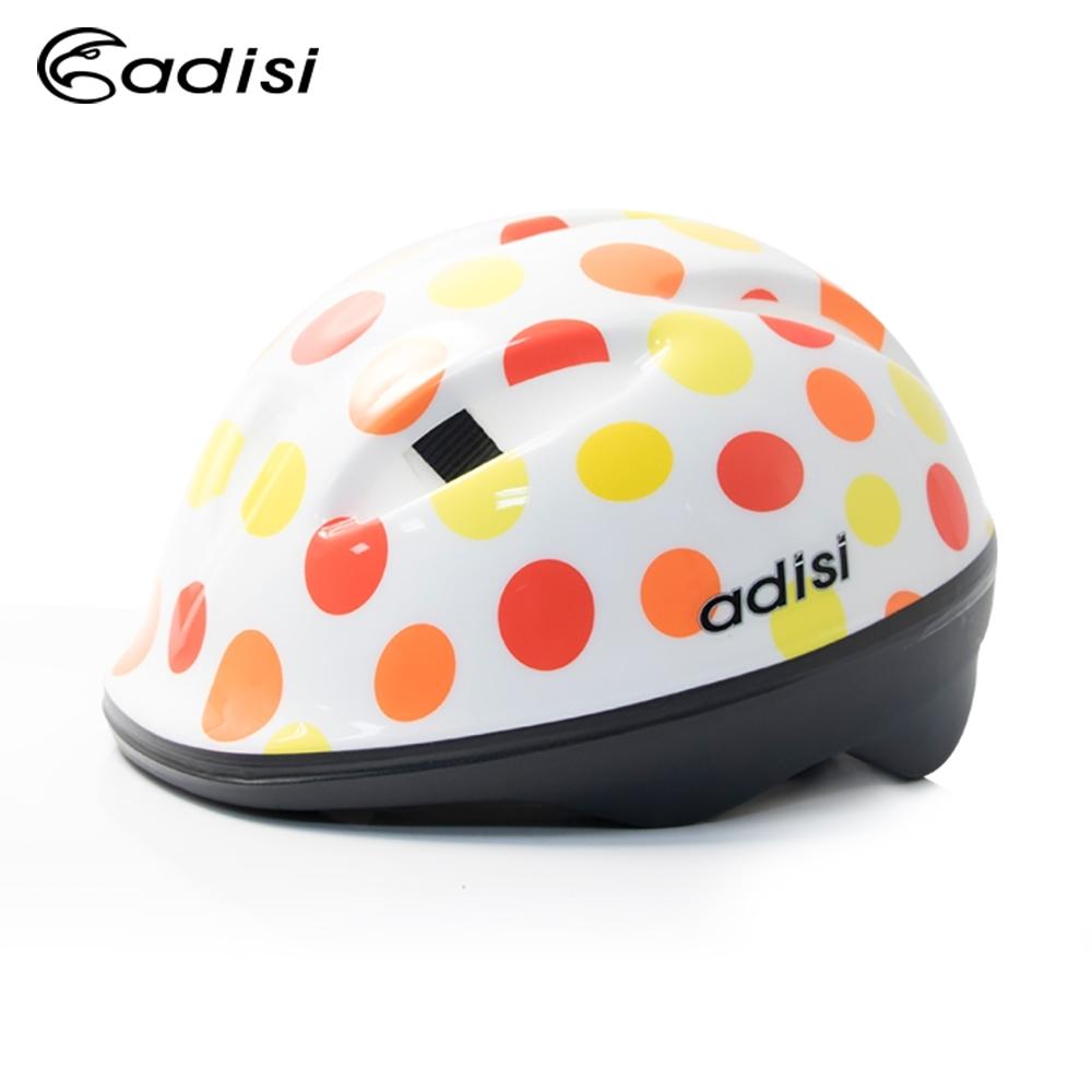 ADISI 兒童自行車帽 CS-2700 黃圓圈