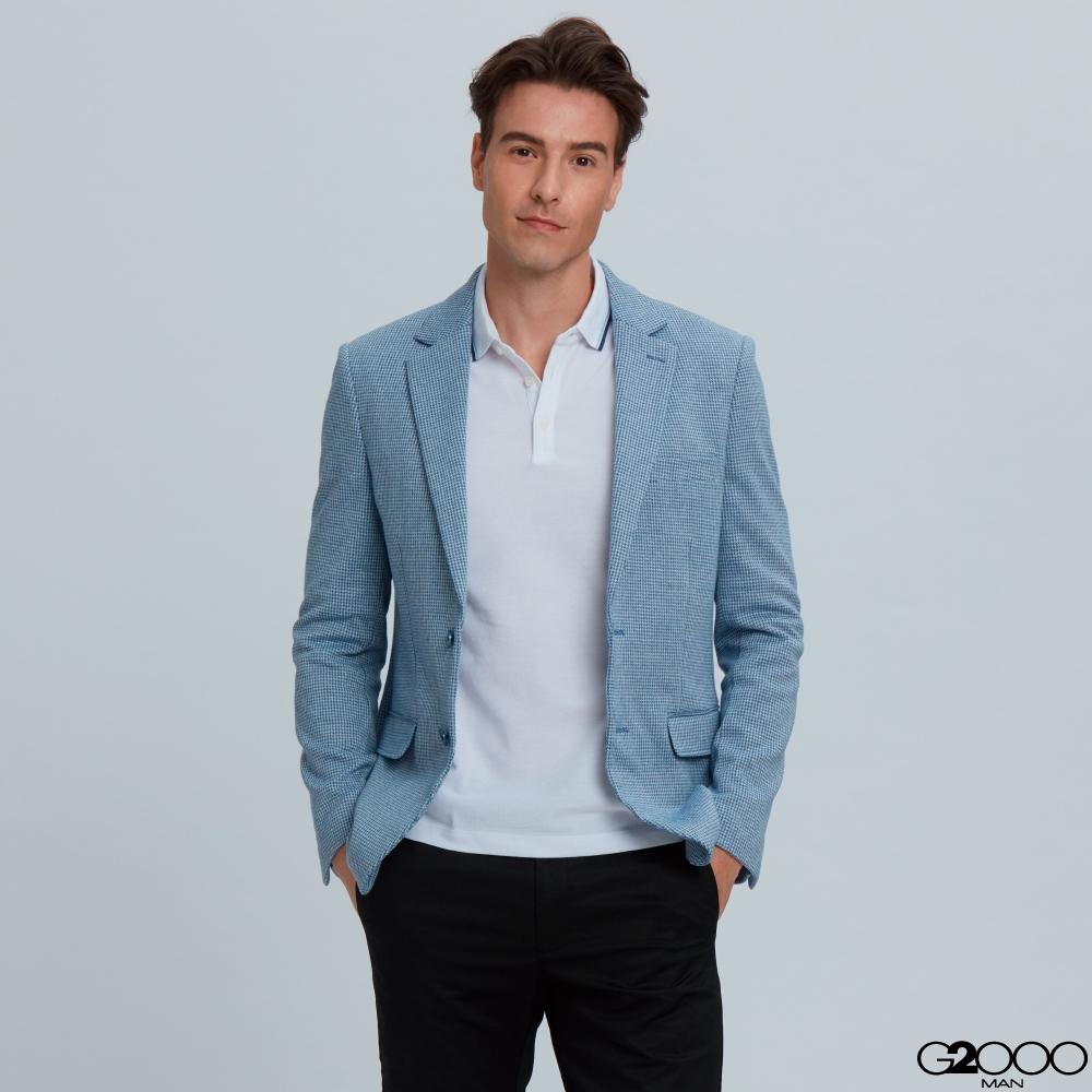 G2000雙釦西裝式外套-藍色