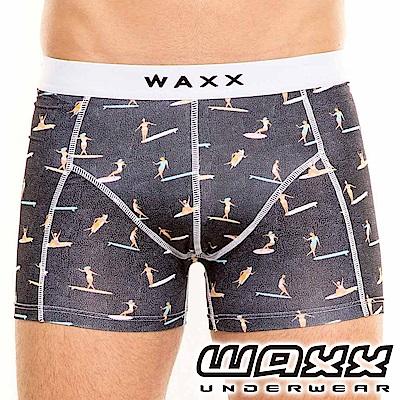 WAXX 拳擊手系列-衝浪人物插畫四面彈性快乾型男內褲