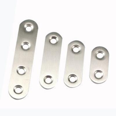 AC044 10入裝 不銹鋼一字型 180度連接片 直片角鐵 76X16MM 厚1.5MM