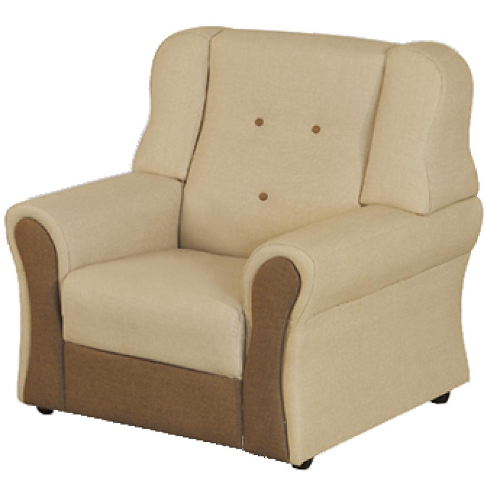 綠活居 隆尼雙色貓抓皮革單人座沙發椅-87x84x88cm免組