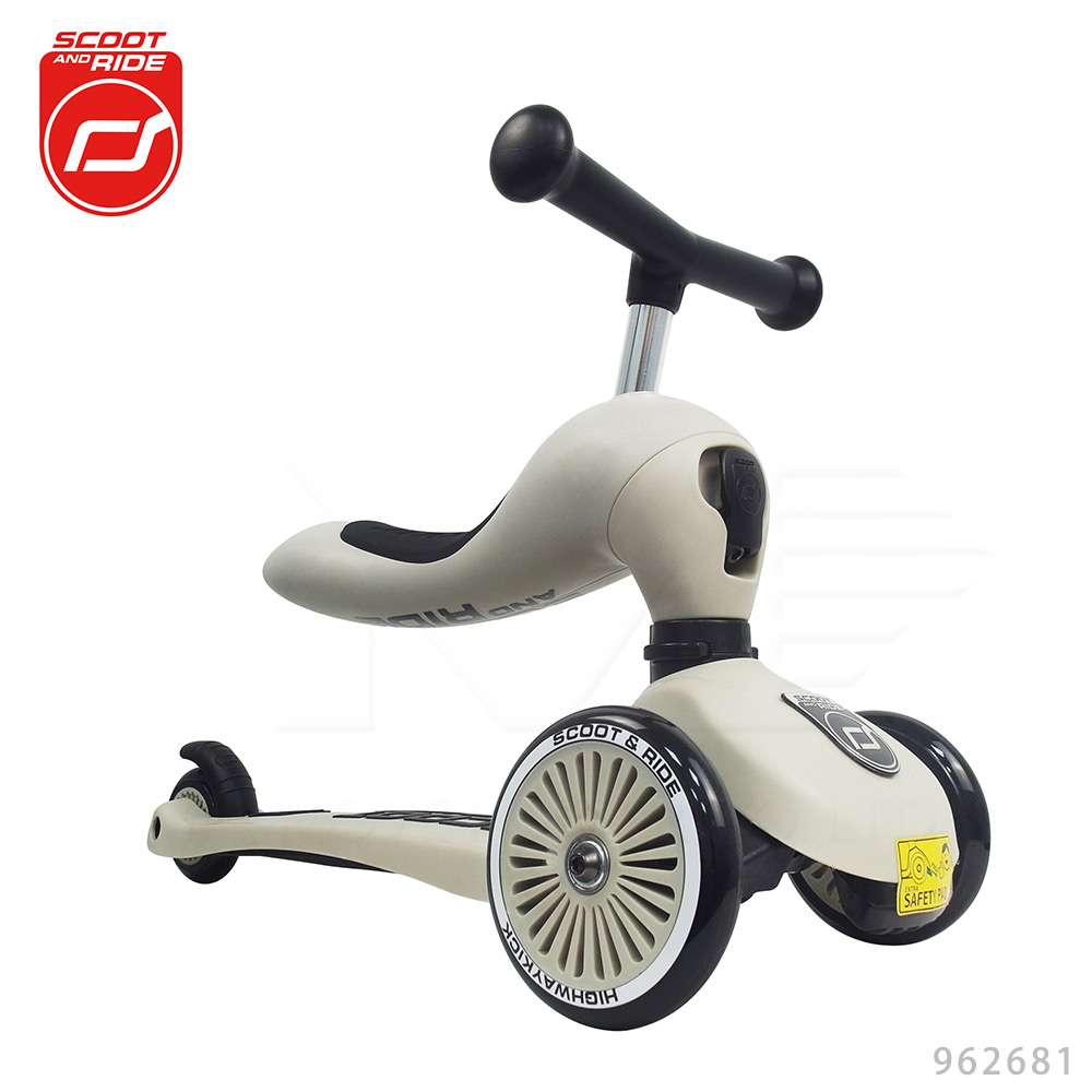 奧地利【Scoot&Ride】Cool飛/二合一滑步車-米色