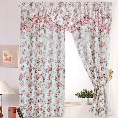 佳芸 鄉村采風花語柔紗系列雙層窗簾