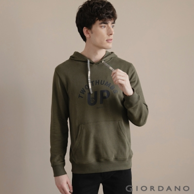 GIORDANO 男裝CHECKS連帽T恤 - 32 葡萄葉綠