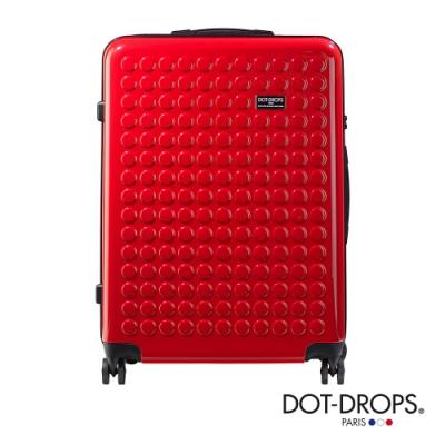 DOT-DROPS 28 吋 Chapter <b>2</b> 輕量客製點點硬殼行李箱 - 熱情紅