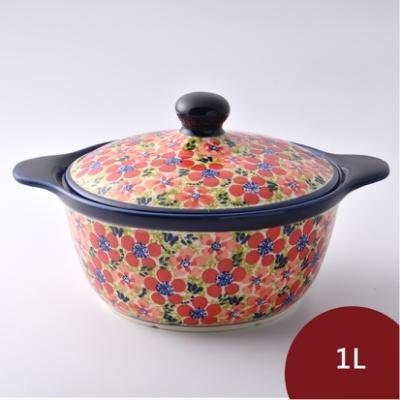 波蘭陶 繁花艷野系列 陶鍋 1L 波蘭手工製