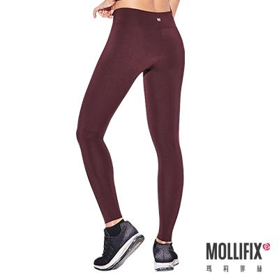 Mollifix 瑪莉菲絲 彈力修身動塑褲 (栗褐紅)