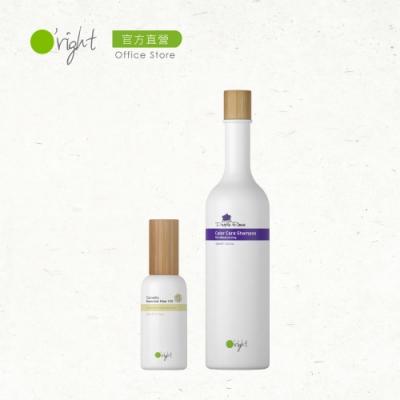 O right 歐萊德 山茶花菁萃油100ml+紫玫瑰護色洗髮精400ml