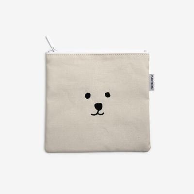 Dailylike 小清新刺繡收納包-13大方熊