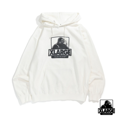 XLARGE OG PULLOVER HOODED SWEAT連帽上衣-白