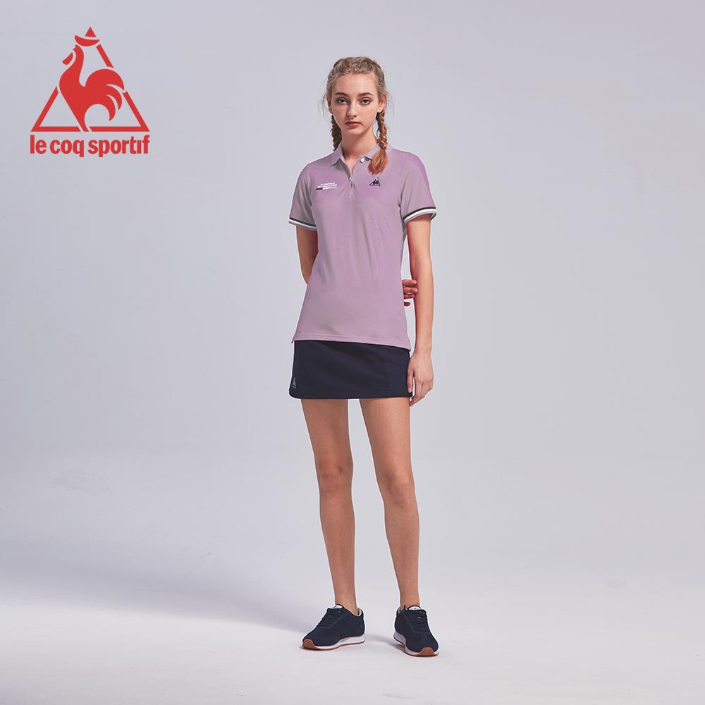 le coq sportif 法國公雞牌吸濕排汗多色經典短袖POLO衫 女-淺紫