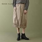 【MOSS CLUB】MIT台灣製造 褶紋-長裙(二色)