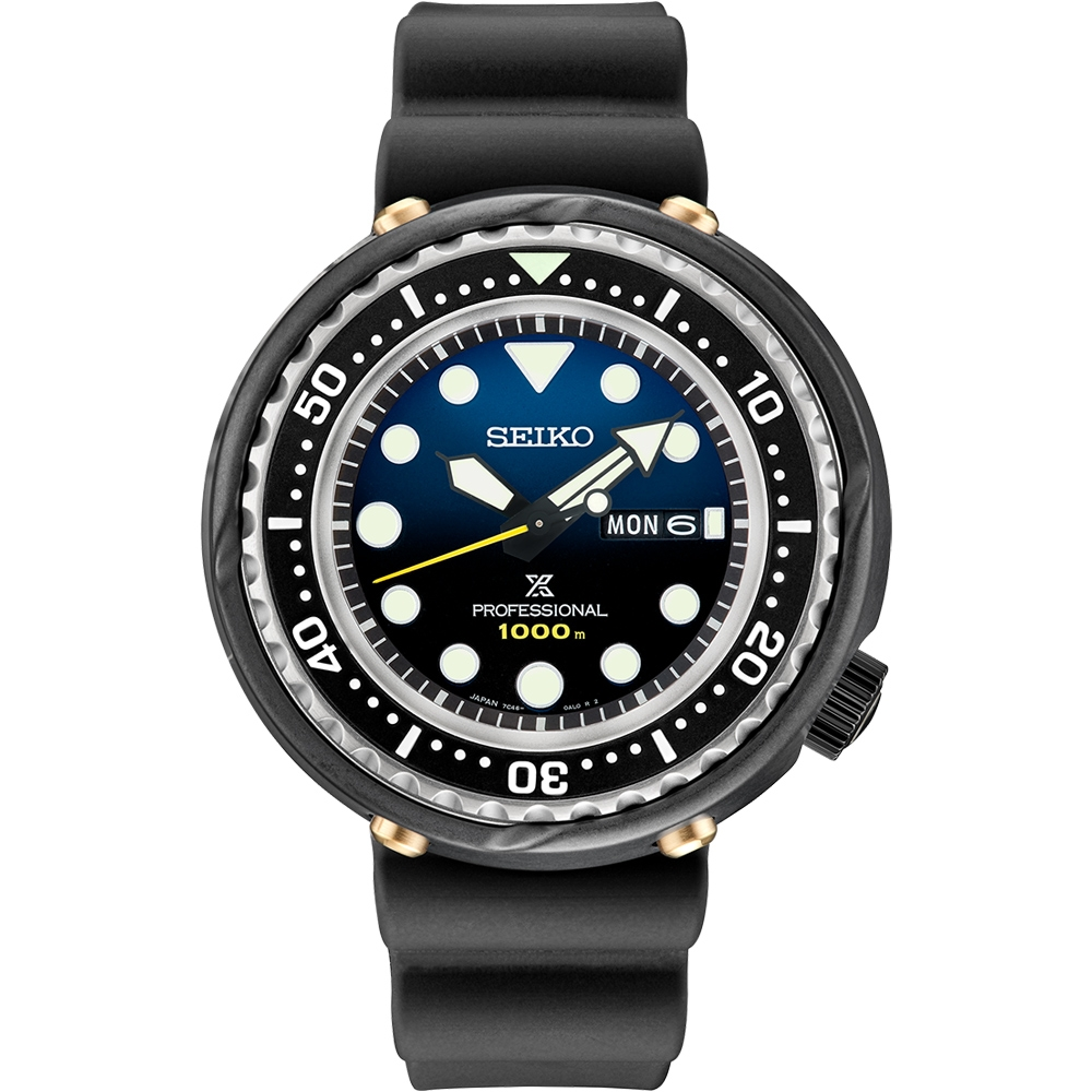SEIKO精工 PROSPEX 1986石英潛水員35週年限量版復刻1000米潛水錶 7C46-0AR0B(S23635J1)-49.4mm