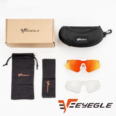 EYEGLE Victor系列 運動太陽眼鏡 - 橘 附變色備片