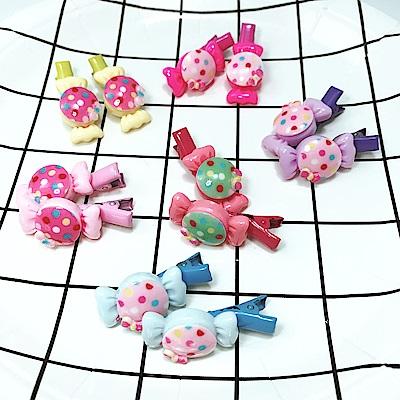 Hera 赫拉 繽紛點點糖果兒童髮夾(4對一組隨機出色)