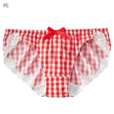 aimerfeel 格紋蕾絲內褲-紅色-176921-RE