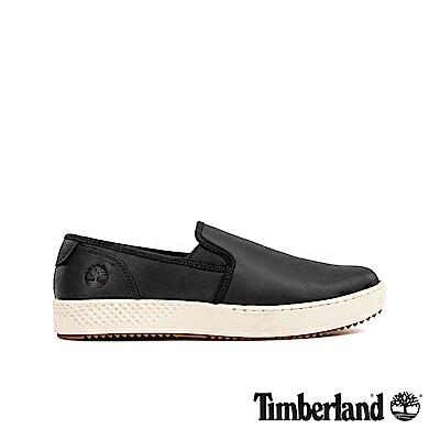 Timberland 男款黑色全粒面革休閒鞋|A25MU