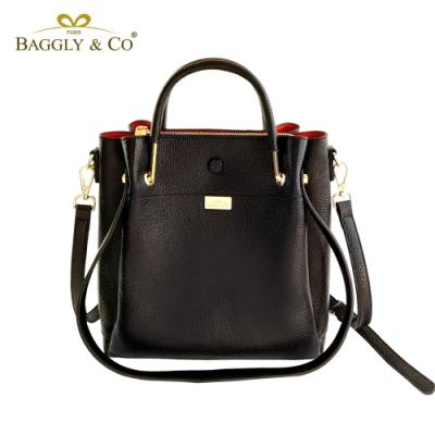 【BAGGLY&CO】精品皮革三用水桶包(三色)