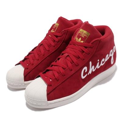 adidas 休閒鞋 Pro Model 高筒 運動 男女鞋 海外限定 愛迪達 麂皮 舒適 情侶穿搭 紅 白 FV4485